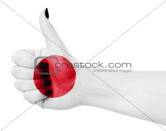 Flag of Japan on hand