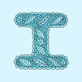 Cute letter I. Floral monogram I