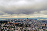 Cloudy sky over San Francisco Downtown