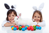 Happy kids at easter time