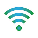 Wifi icon blue green color