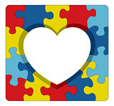 Autism Awareness Puzzle Heart Illustration