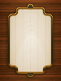 Wooden doorplate vertical