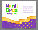 Mardi Gras background with ribbon