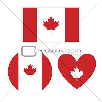 Flag Canada on white background