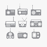 Radio isolated objects set