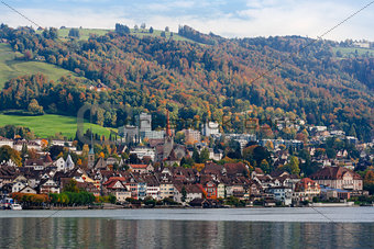 City of Zug Switzerland during Autumn