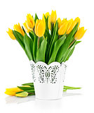 jpg2015020817465110663 Bunch yellow spring tulips in bucket