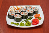 Roll with smoked eel and salmon