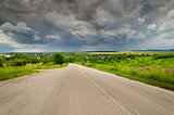 The road to the storm in the northern Bulgaria