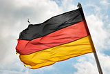 german flag in wind