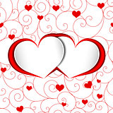 St Valentine Heart Shape Background