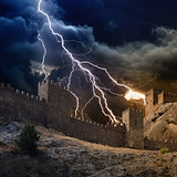 Lightning strikes fortress
