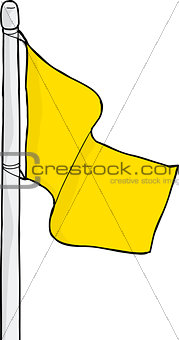 Blank Yellow Flag