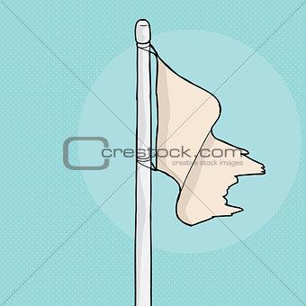 Torn Flag Illustration