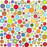 joyful sphere bubble pattern in multiple color