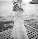 bride at the pier
