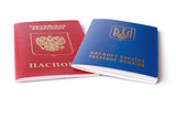 Ukrainian and Russian ID passports