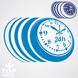 Twenty-four hours a day conceptual vector eps 8 highly detailed