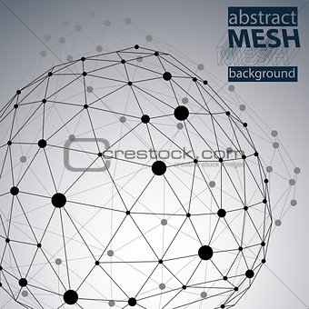 Abstract deformed vector black and white background, chaotic bac