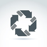 Loop sign, circulation and rotation icon. Vector abstract design