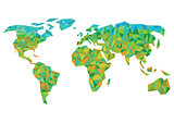 colorful worldmap