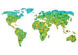 colorful worldmap