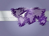 Striped and scribbled purple brochure design