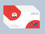 Cool business card design resume style