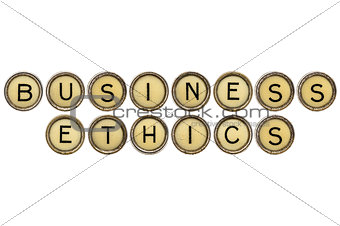 business ethics in typewriter keys