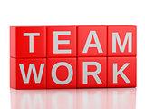 3d teamwork business concept
