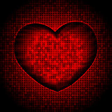 techno heart background