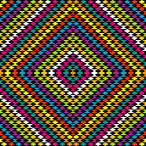 Colorful rhomboid background with ethnic ornaments