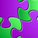 Puzzle pieces detail