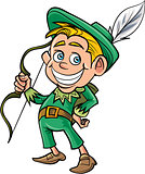 Cartoon cute Robin Hood