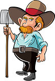 Cartoon farmer with moustache and hat