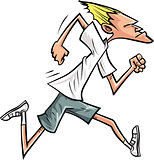 Cartoon runner speeding along