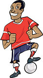 Cartoon footballer with thumbs up