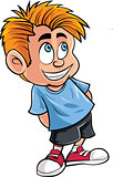 Cartoon of cute little boy