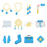 Colored vector icons for handmade items