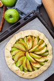 Making apple galette