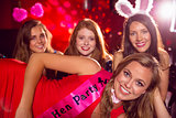 Pretty friends on a hen night
