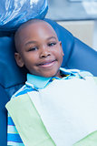 Portrait of boy waiting for dental exam