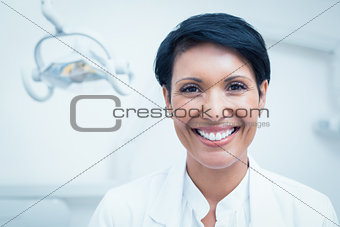 Close up portrait of female dentist