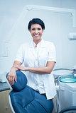 Smiling female dentist