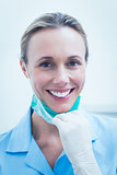 Smiling young female dentist