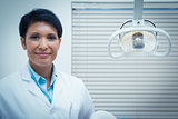Portrait of female dentist