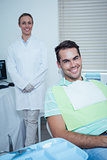 Smiling man waiting for dental exam