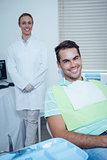 Smiling man waiting for dental exam
