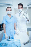 Portrait of dentists wearing surgical masks
